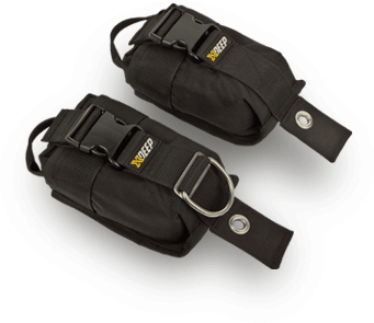 Diving weight pockets for harness